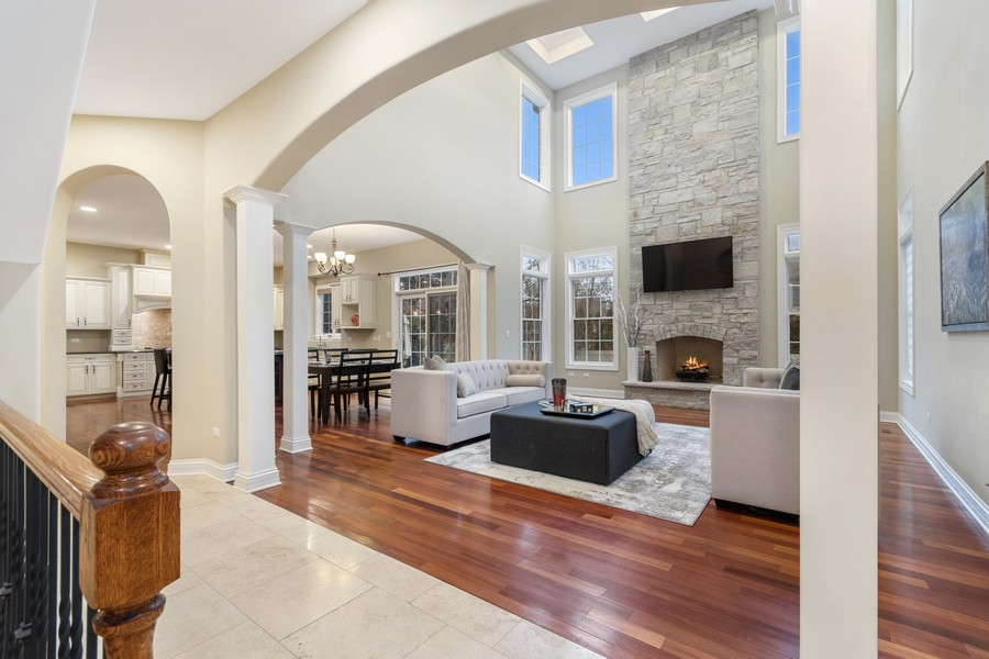 Real Estate Photography - 815 Iris Ln, Naperville, IL, 60540 - Family Room