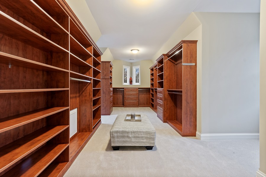 Real Estate Photography - 815 Iris Ln, Naperville, IL, 60540 - Master Bedroom Closet