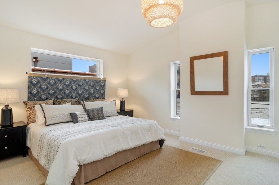 Real Estate Photography - 1938 North Oakley Ave, Chicago, IL, 60647 - Master Bedroom
