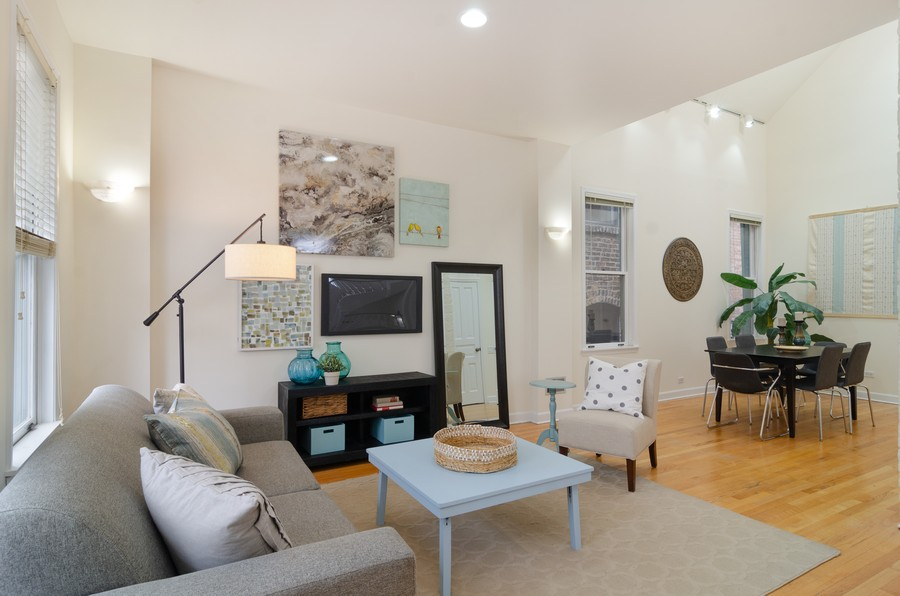 Real Estate Photography - 1938 North Oakley Ave, Chicago, IL, 60647 - Living Room
