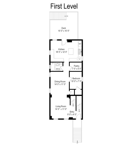 Real Estate Photography - 1938 North Oakley Ave, Chicago, IL, 60647 - Floor Plan