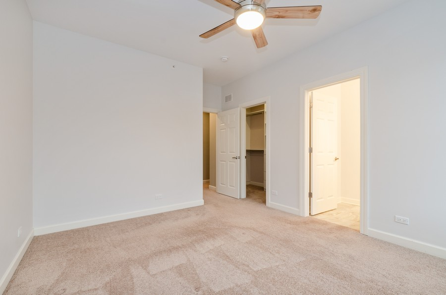 Real Estate Photography - 1673 Church St, Evanston, IL, 60201 - Master Bedroom