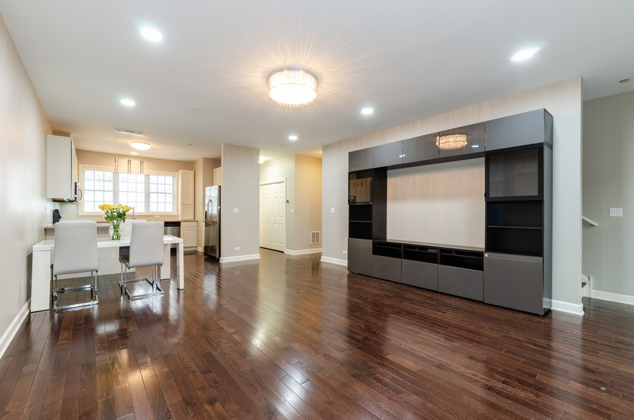 Real Estate Photography - 1673 Church St, Evanston, IL, 60201 - Living Room/Dining Room