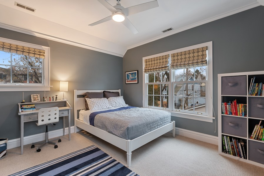 Real Estate Photography - 132 Park Ave, Wilmette, IL, 60091 - 2nd Bedroom