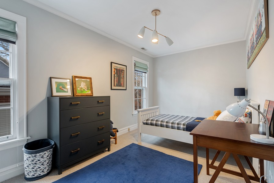 Real Estate Photography - 132 Park Ave, Wilmette, IL, 60091 - 3rd Bedroom