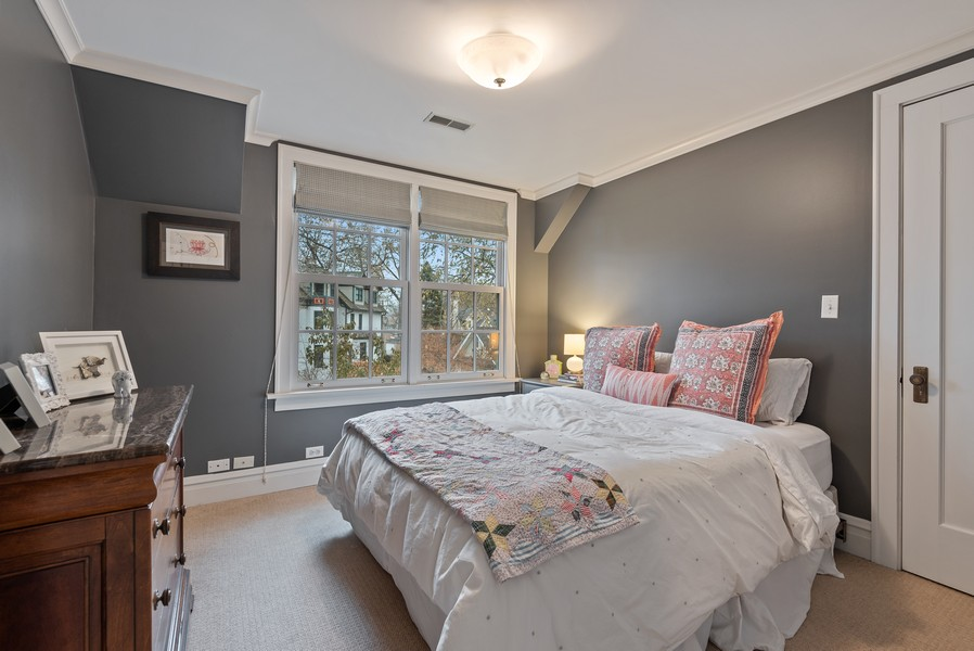 Real Estate Photography - 132 Park Ave, Wilmette, IL, 60091 - Bedroom