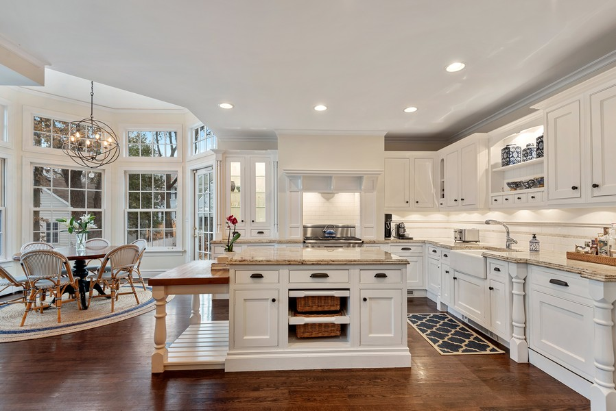 Real Estate Photography - 132 Park Ave, Wilmette, IL, 60091 - Kitchen / Breakfast Room
