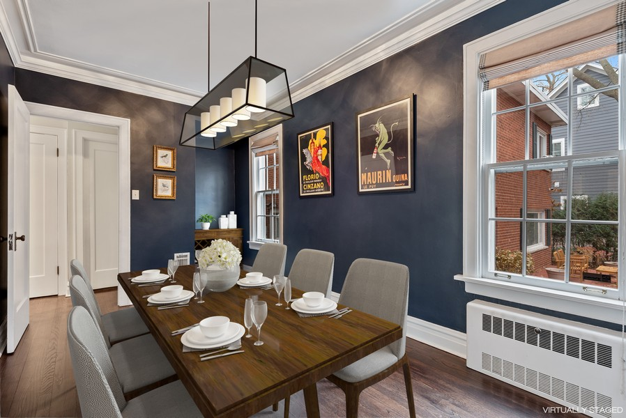 Real Estate Photography - 132 Park Ave, Wilmette, IL, 60091 - Dining Room