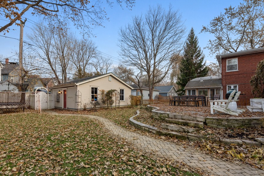 Real Estate Photography - 132 Park Ave, Wilmette, IL, 60091 - Back Yard