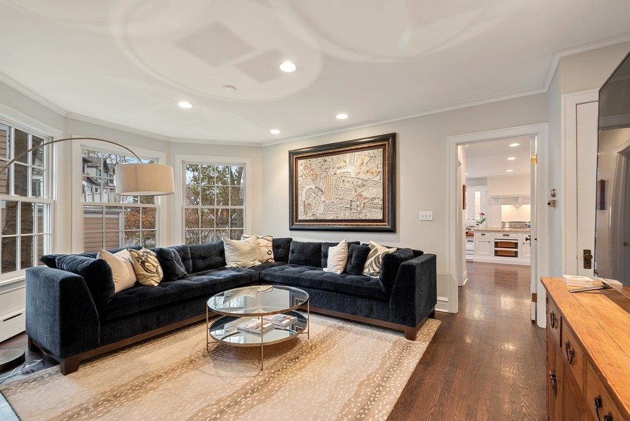 Real Estate Photography - 132 Park Ave, Wilmette, IL, 60091 - Family Room