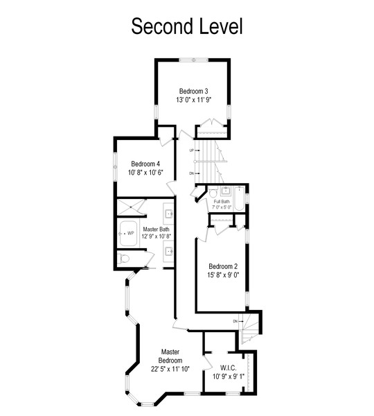 Real Estate Photography - 132 Park Ave, Wilmette, IL, 60091 - Floor Plan