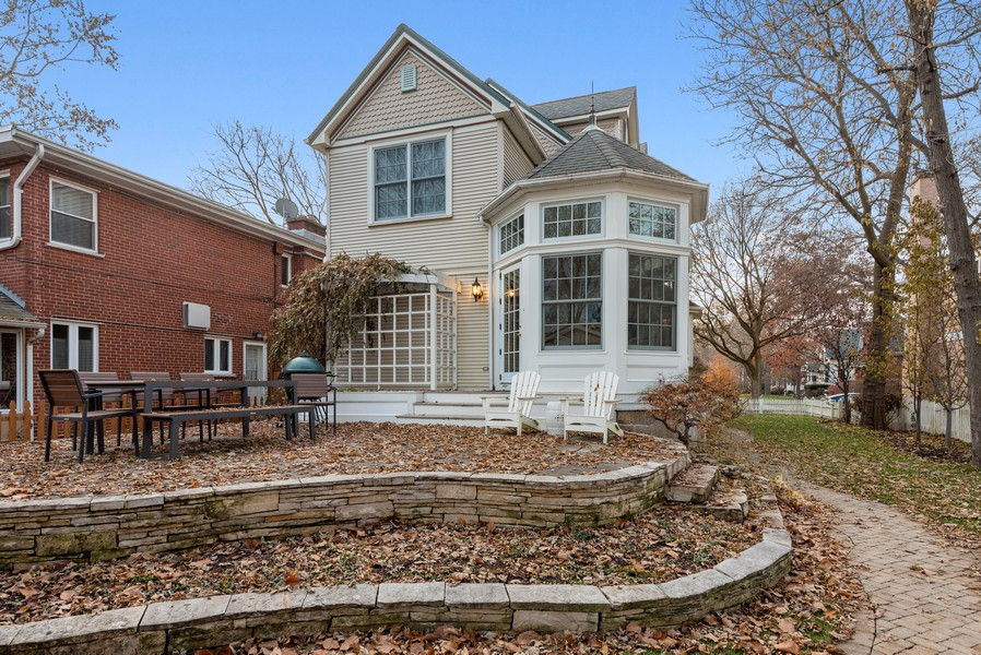Real Estate Photography - 132 Park Ave, Wilmette, IL, 60091 - Rear View