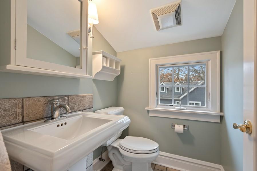 Real Estate Photography - 132 Park Ave, Wilmette, IL, 60091 - Half Bath