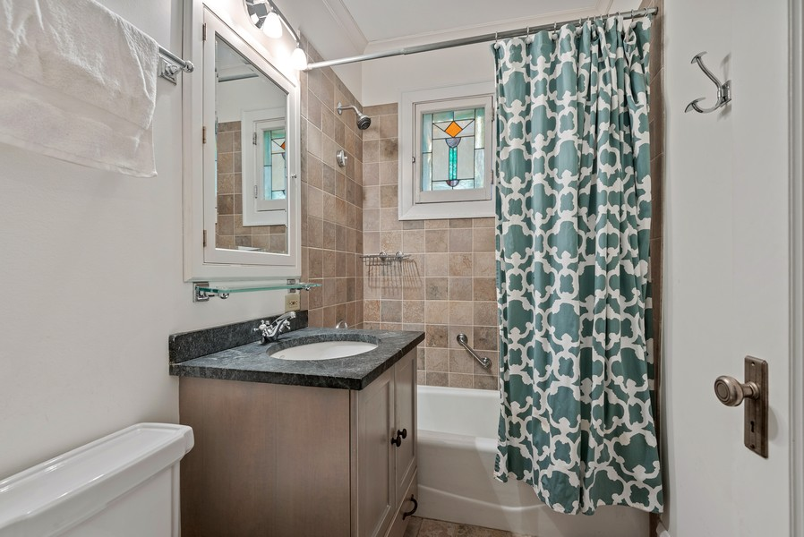 Real Estate Photography - 132 Park Ave, Wilmette, IL, 60091 - Bathroom