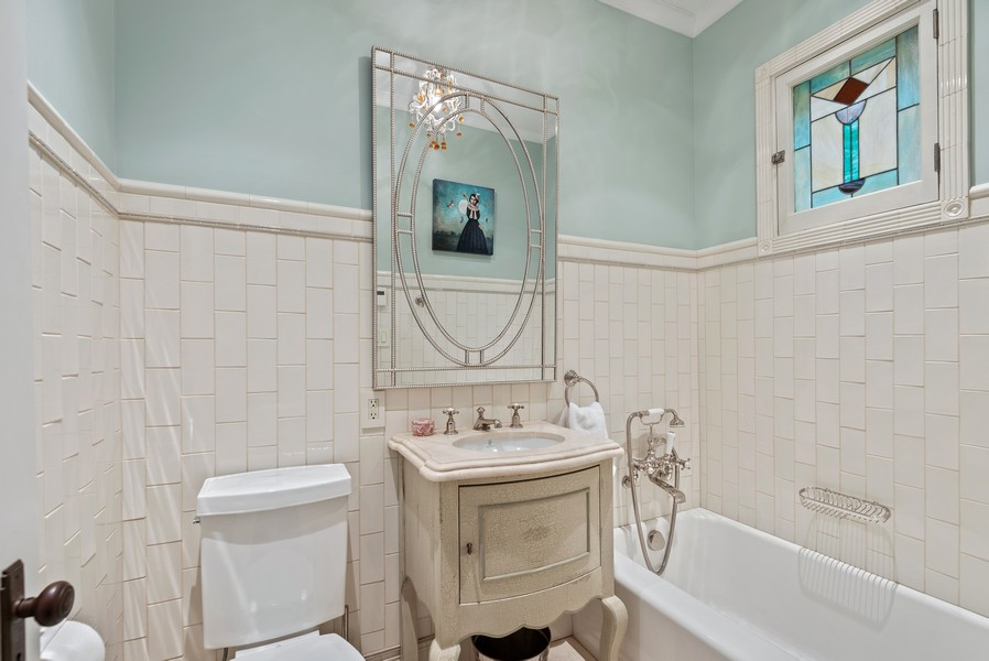 Real Estate Photography - 132 Park Ave, Wilmette, IL, 60091 - 2nd Bathroom
