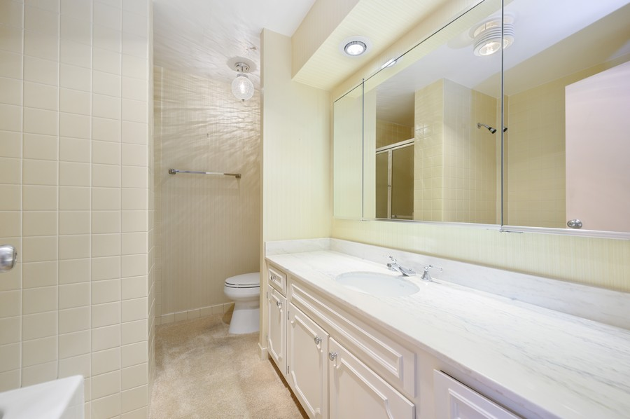 Real Estate Photography - 1555 W Astor, 24W, Chicago, IL, 60610 - Master Bathroom