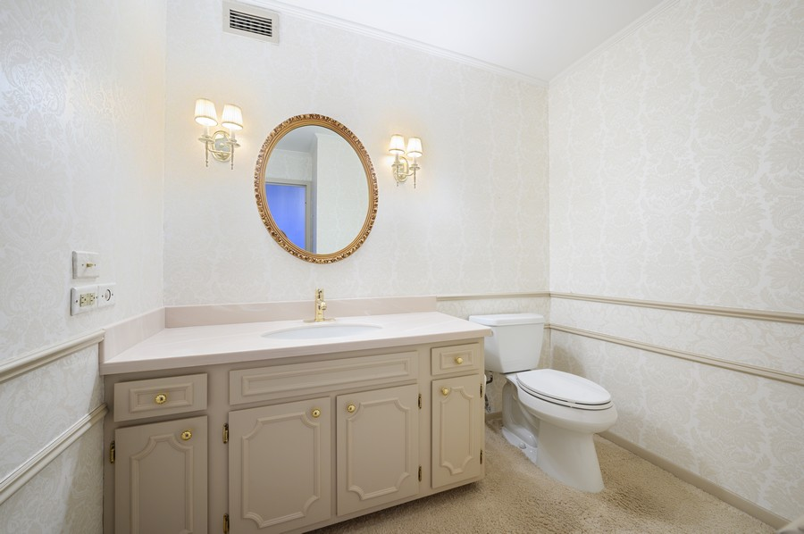 Real Estate Photography - 1555 W Astor, 24W, Chicago, IL, 60610 - Powder Room