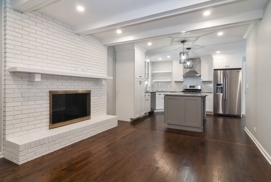 Real Estate Photography - 908 Royal St George Dr, Naperville, IL, 60563 - Family Room / Kitchen