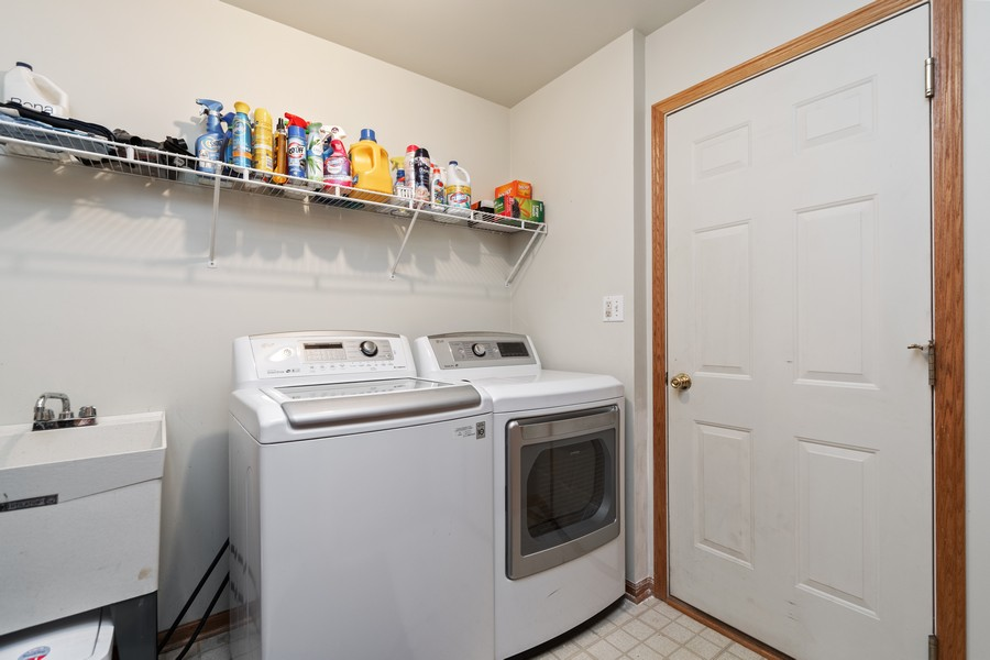 Real Estate Photography - 2624 Schooner Dr, New Lenox, IL, 60451 - Laundry Room