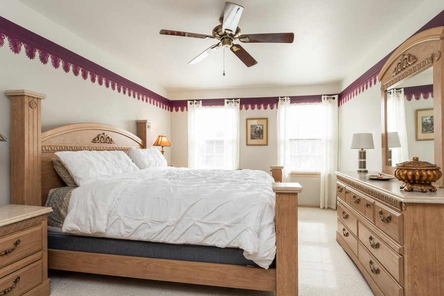 Real Estate Photography - 137 Cinderford Dr, Oswego, IL, 60543 - Master Bedroom