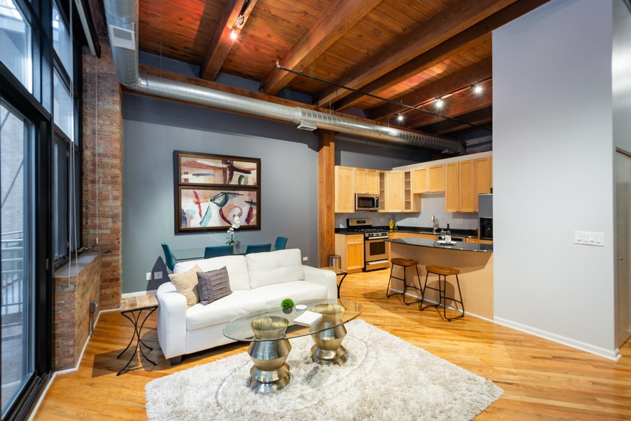 Real Estate Photography - 525 West Superior St, 328, Chicago, IL, 60654 - Living Room