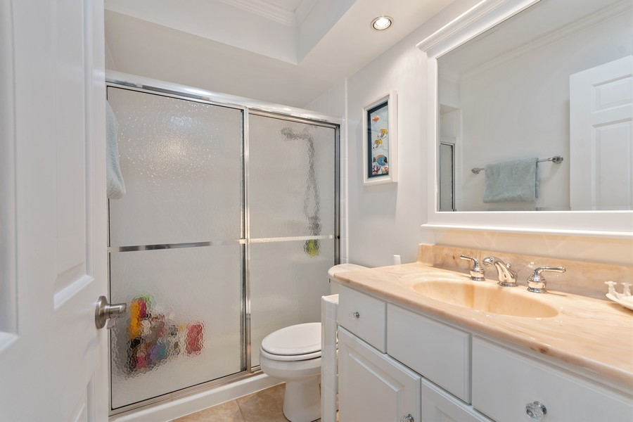 Real Estate Photography - 1519 Wedgefield Cir, Naperville, IL, 60563 - 2nd Bathroom