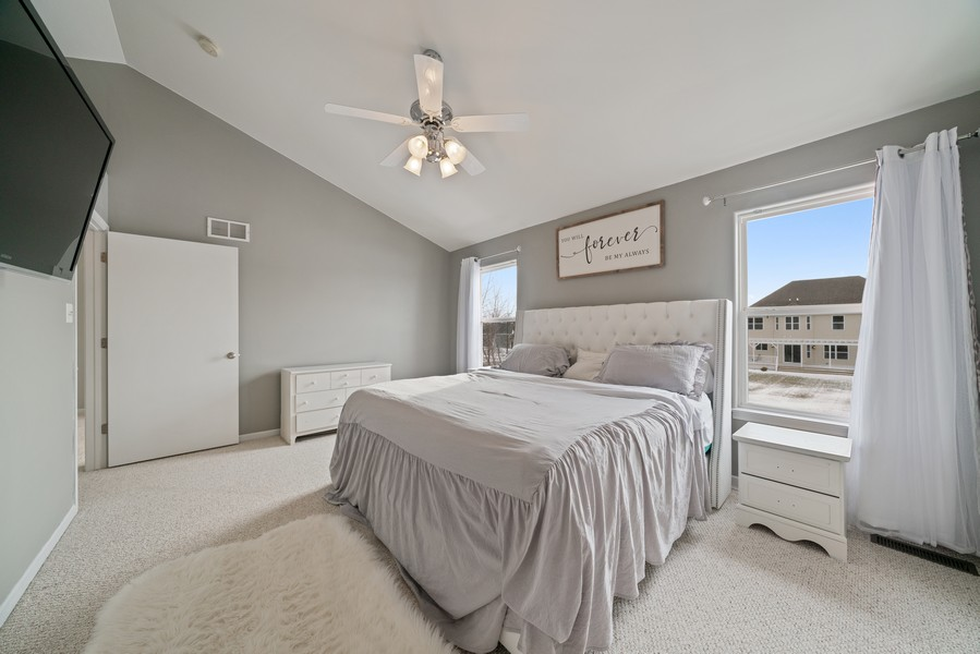 Real Estate Photography - 27233 Red Wing Ln, Channahon, IL, 60410 - MASTER BEDROOM