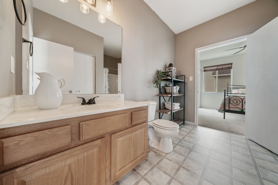 Real Estate Photography - 27233 Red Wing Ln, Channahon, IL, 60410 - MAIN FLOOR FULL BATH