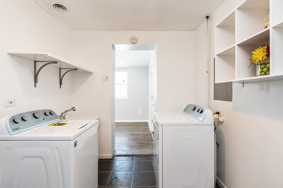 Real Estate Photography - 38 Monee Rd, Park Forest, IL, 60466 - Laundry Room