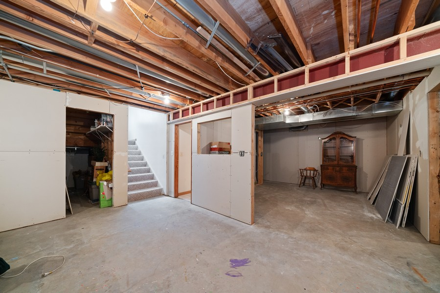 Real Estate Photography - 700 O Toole Dr, Minooka, IL, 60447 - BASEMENT ROUGHED IN WITH SECOND KITCHEN / BAR