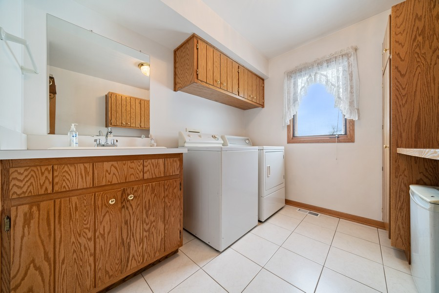 Real Estate Photography - 700 O Toole Dr, Minooka, IL, 60447 - FIRST FLOOR LAUNDRY ROOM