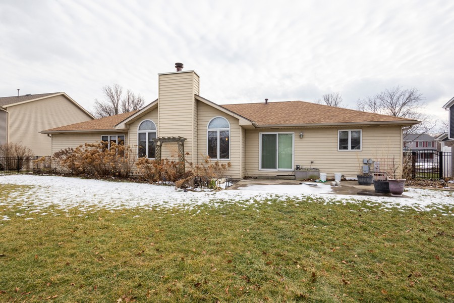 Real Estate Photography - 213 Deerhaven Dr, Minooka, IL, 60447 - Rear View
