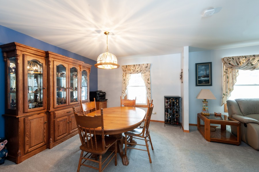 Real Estate Photography - 8807 Regnier Rd, Hebron, IL, 60034 - Dining Room