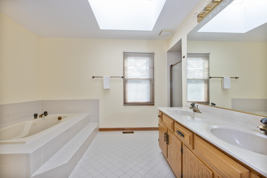 Real Estate Photography - 1416 Shepherd Dr, Naperville, IL, 60565 - Master Bathroom