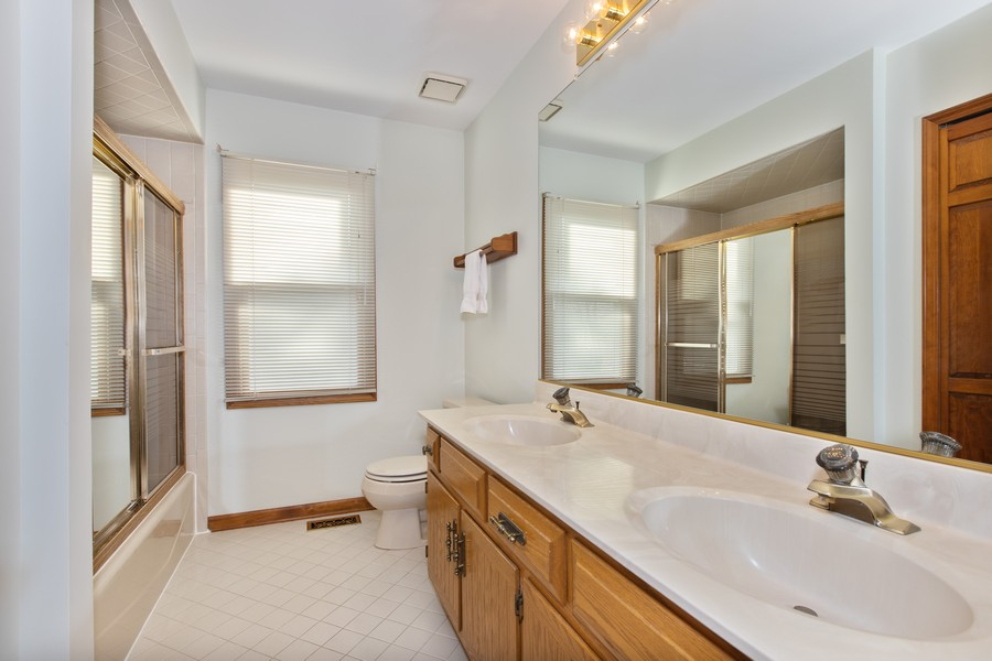 Real Estate Photography - 1416 Shepherd Dr, Naperville, IL, 60565 - 2nd Floor Full Bathroom