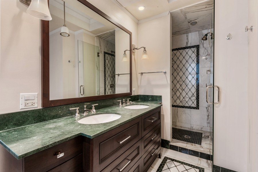 Real Estate Photography - 3400 North Lake Shore Dr, 4A, Chicago, IL, 60657 - Master Bathroom
