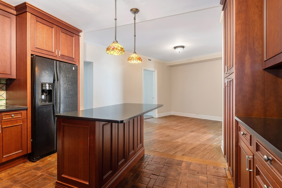 Real Estate Photography - 3400 North Lake Shore Dr, 4A, Chicago, IL, 60657 - KItchen / Family Room / Den