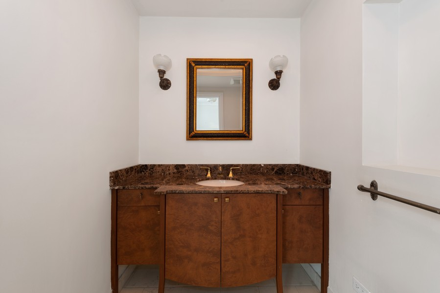 Real Estate Photography - 3400 North Lake Shore Dr, 4A, Chicago, IL, 60657 - Powder Room