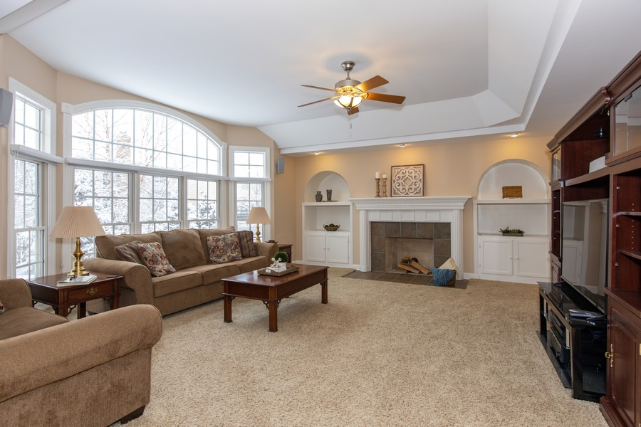 Real Estate Photography - 3655 Hector Ln, Naperville, IL, 60564 - Family Room