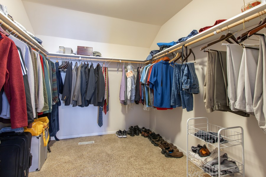 Real Estate Photography - 3655 Hector Ln, Naperville, IL, 60564 - Master Bedroom Closet