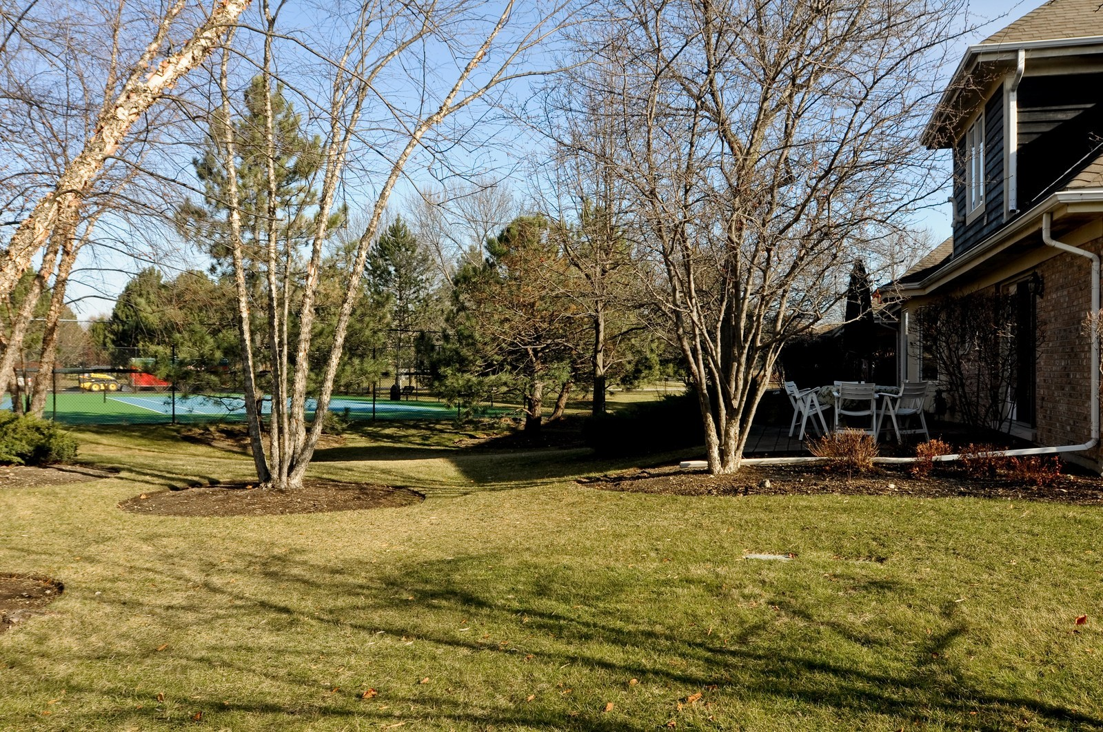 Real Estate Photography - 363 Rivershire Ct, Lincolnshire, IL, 60069 - Tennis Court