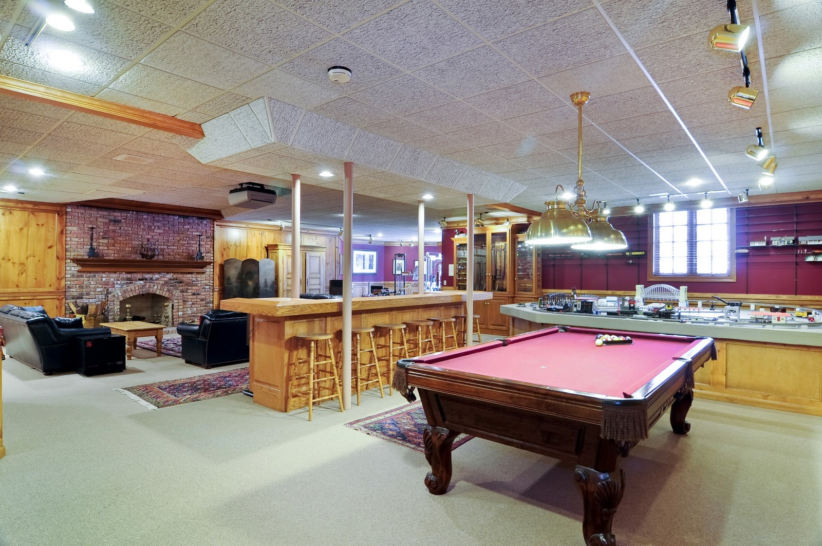Real Estate Photography - 25471 W Plamondon, Wheaton, IL, 60189 - Lower Level Rec Room