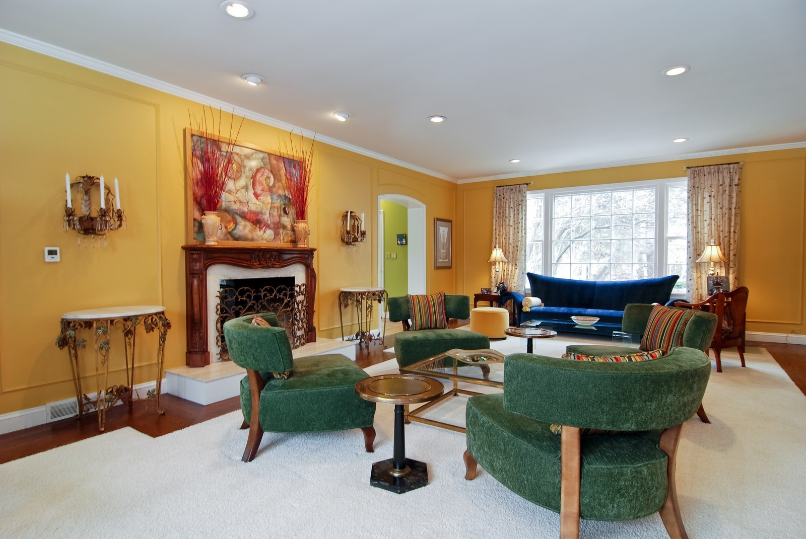 Real Estate Photography - 1532 Butterfield Road, Flossmoor, IL, 60422 - Expansive living room with two huge picture window