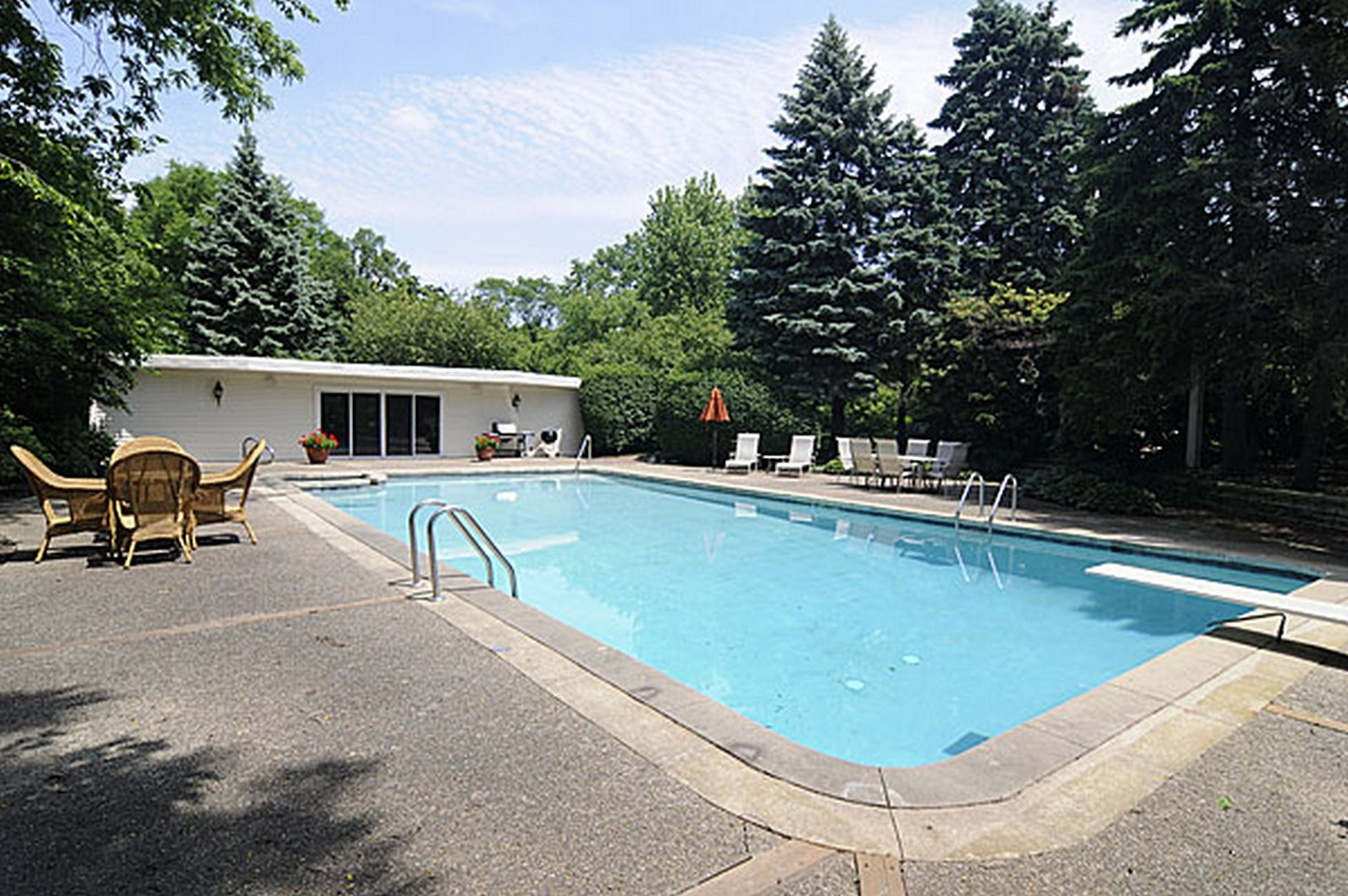 Real Estate Photography - 1532 Butterfield Road, Flossmoor, IL, 60422 - Pool