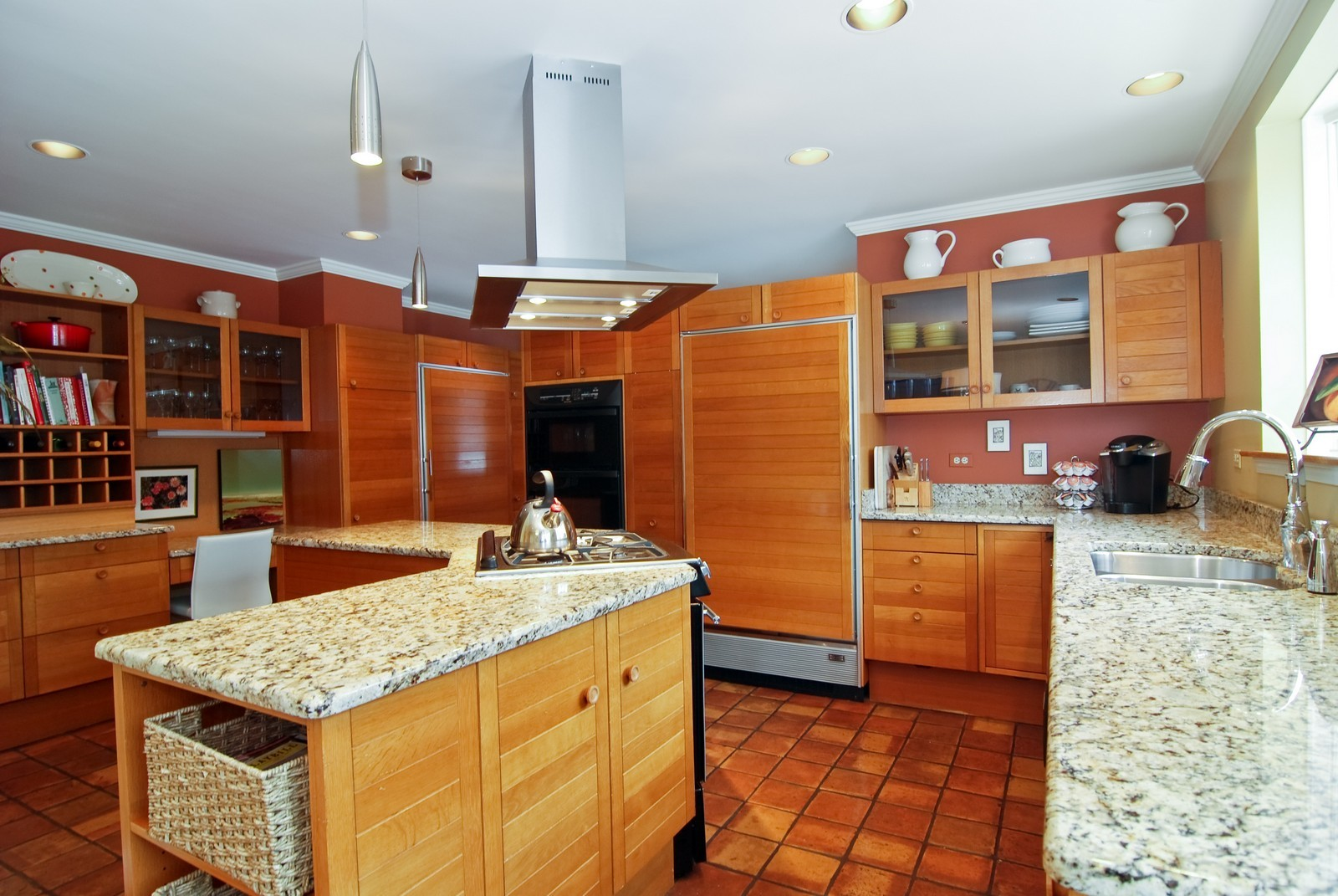 Real Estate Photography - 1532 Butterfield Road, Flossmoor, IL, 60422 - Chef's kitchen with recent granite , stainless ste