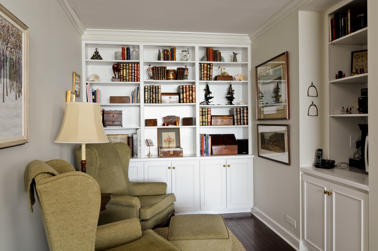 Real Estate Photography - 1500 Sheridan, 3F, Wilmette, IL, 60091 - Library