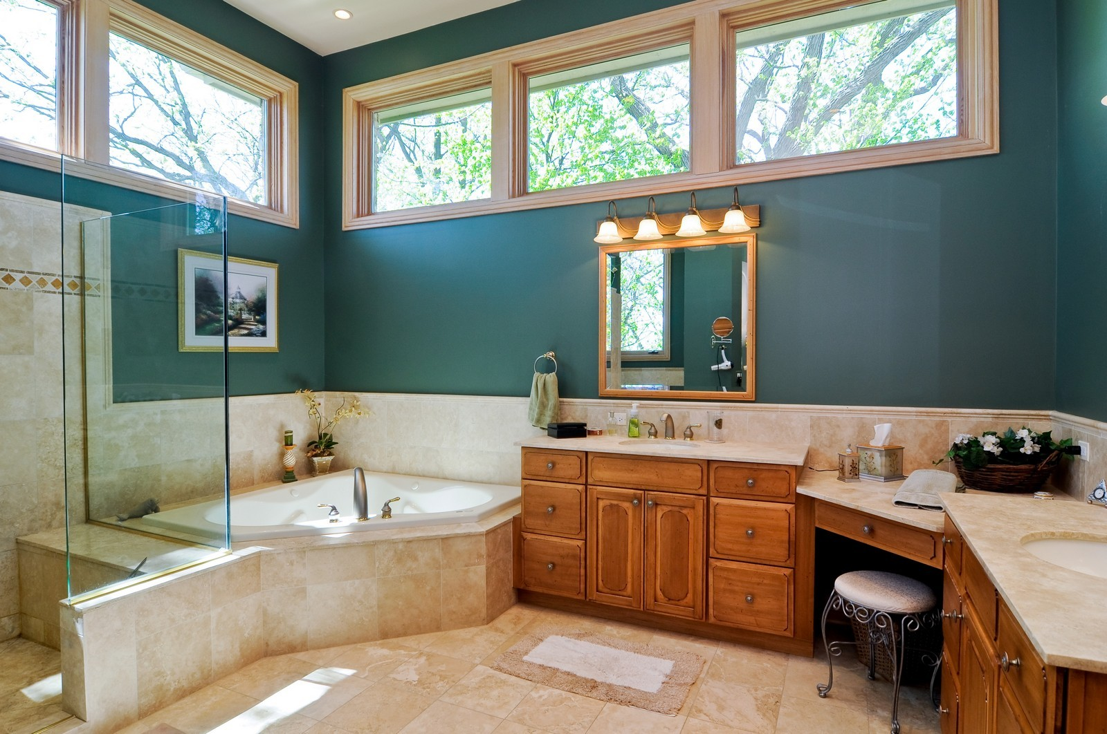 Real Estate Photography - 49 Brittany, Oakwood Hills, IL, 60013 - Master Bathroom