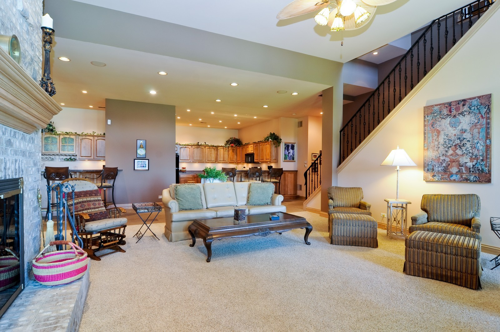 Real Estate Photography - 49 Brittany, Oakwood Hills, IL, 60013 - Family Room