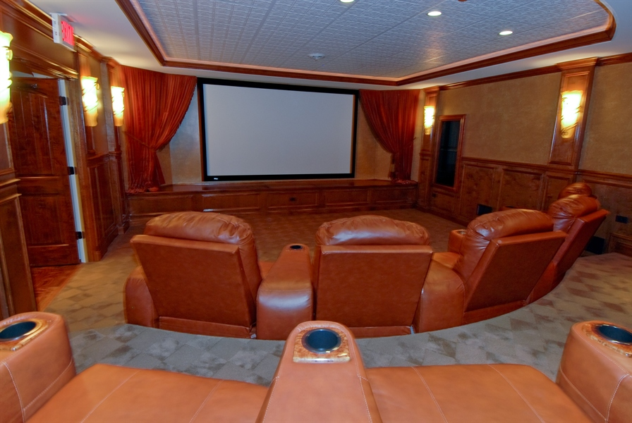 Real Estate Photography - 4508 Corktree, Naperville, IL, 60564 - One of the Finest Theater Rooms ever built