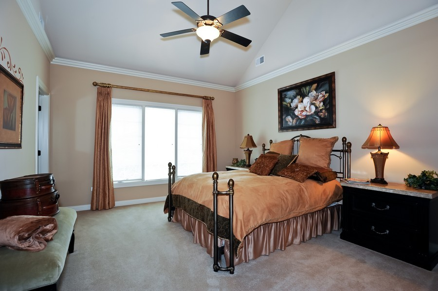 Real Estate Photography - 4508 Corktree, Naperville, IL, 60564 - Guest Bedroom with Private Bath